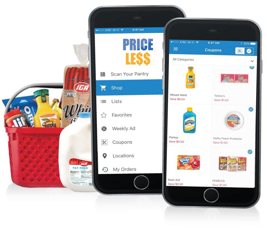 Mobile App - Price Less Foods